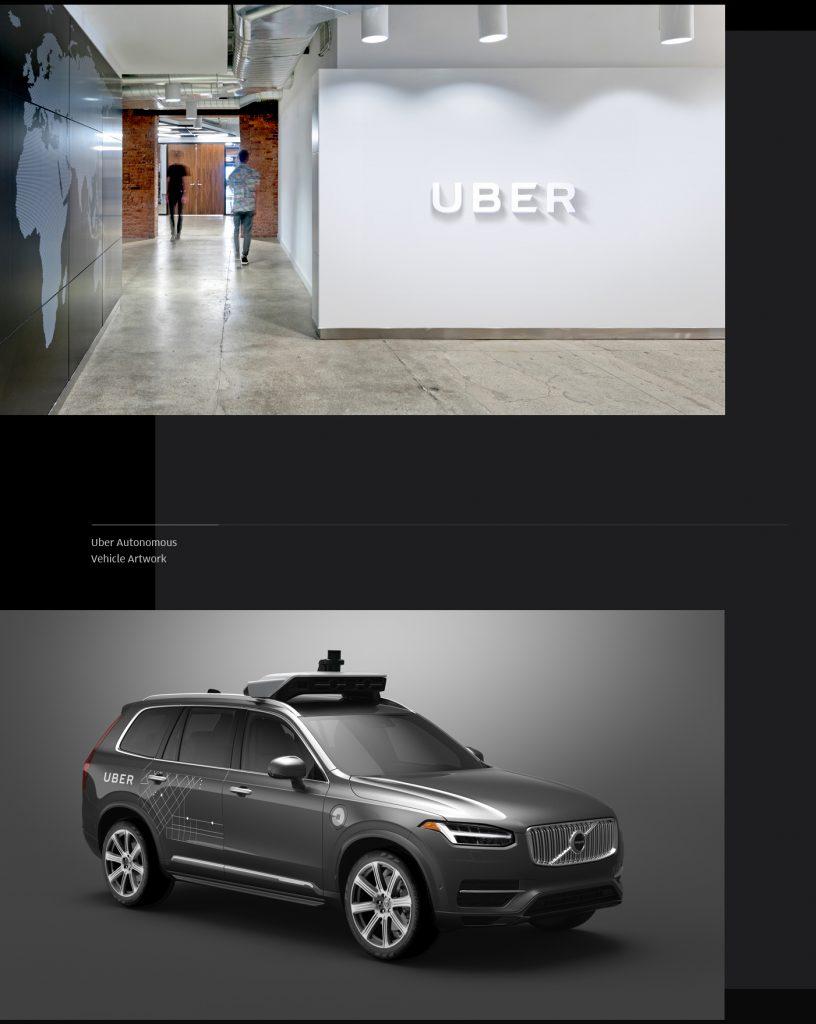 Przemyślany Branding Uber'a - Logo Uber w holu w biurowcu