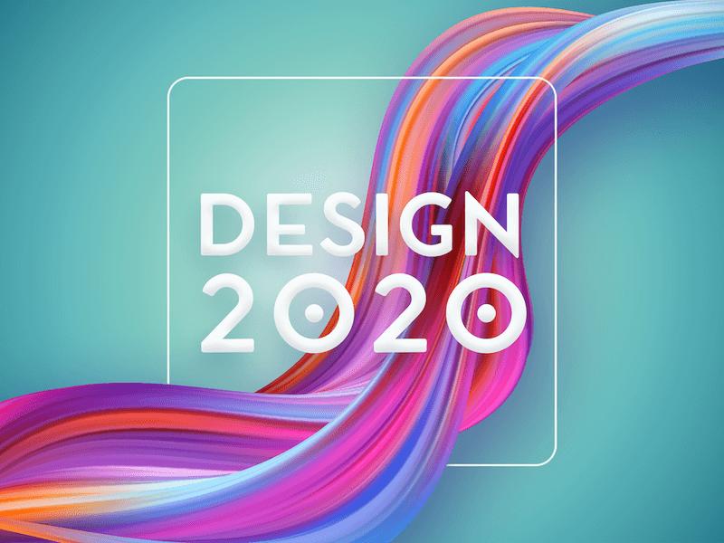 Design i trendy grafiki reklamowej na rok 2020. Delikatna forma