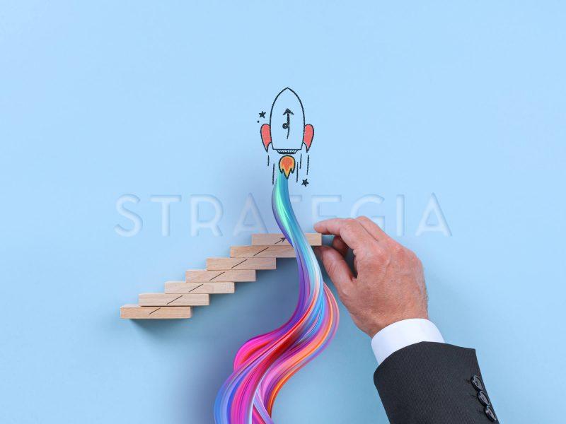"""""""Strategia Marketingowa"""". Kolaż graficzny złożony z różnych stylów grafiki komputerowej Agencja reklamowa Gryfny.Design"""
